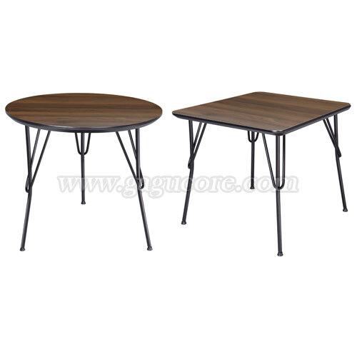폴리카보네이트멀바우헤어핀테이블(사각, 원형)(업소용테이블, 카페테이블, 인테리어테이블, 레스토랑테이블, 원형테이블, 사각테이블)
