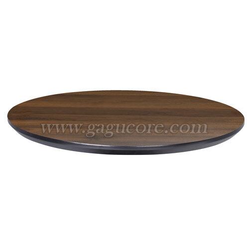 폴리카보네이트멀바우상판(원형)(업소용테이블, 카페테이블, 인테리어테이블, 목재테이블, 테이블상판, 원형테이블)