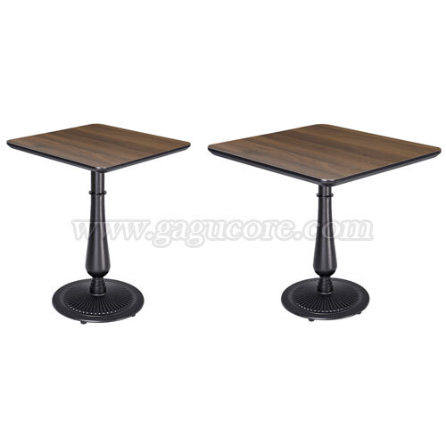 폴리카보네이트멀바우테이블1(사각)(업소용테이블, 카페테이블, 인테리어테이블, 레스토랑테이블, 사각테이블)