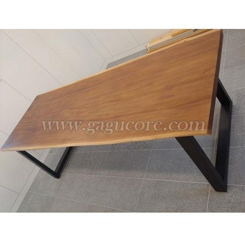 티크원목테이블(업소용테이블, 카페테이블, 인테리어테이블, 목재테이블, 우드슬랩, 원목테이블)