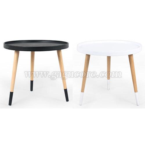 칼라쟁반테이블(카페테이블, 업소용테이블, 인테리어테이블, 원형테이블)