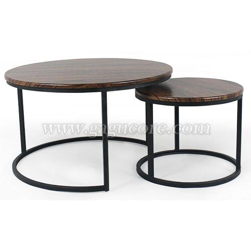 투원테이블(카페테이블, 업소용테이블, 인테리어테이블, 원형테이블)