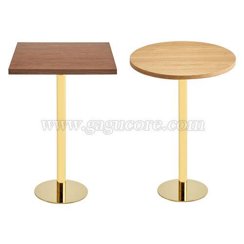 골드라인빠테이블(우드)(업소용테이블, 카페테이블, 인테리어테이블, 레스토랑테이블, T906테이블)