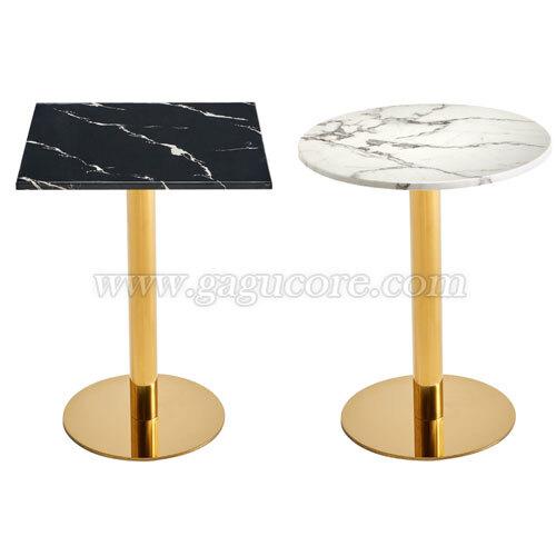 골드라인테이블(마블)(업소용테이블, 카페테이블, 인테리어테이블, 레스토랑테이블, T045테이블, T046테이블)