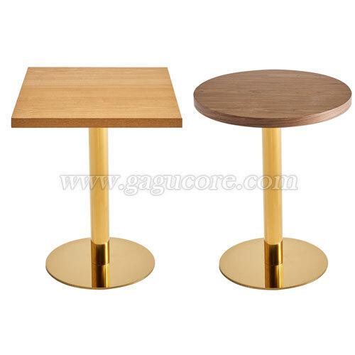 골드라인테이블(우드)(업소용테이블, 카페테이블, 인테리어테이블, 레스토랑테이블, T110테이블)