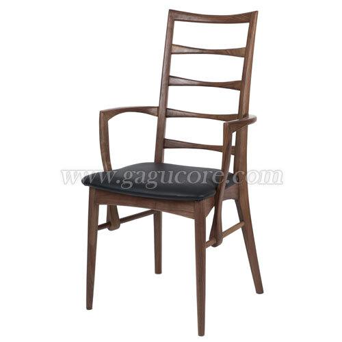 대니쉬암체어(월넛)(업소용의자, 카페의자, 인테리어체어, 목재의자, 우드체어, 레스토랑체어)