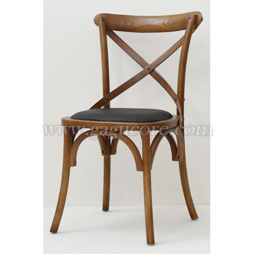 크로스체어(업소용의자, 카페의자, 인테리어체어, 목재의자, 우드체어)