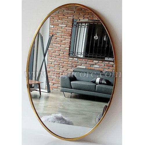 타원거울(인테리어소품, 카페인테리어, 장식거울, 골드프레임거울)