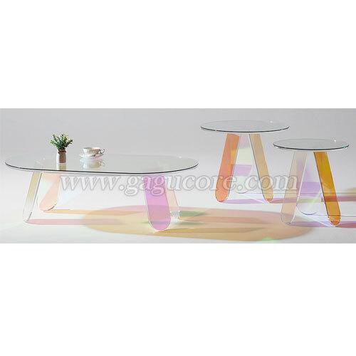 에밀리홀로그램테이블(카페테이블, 업소용테이블, 인테리어테이블, 원형테이블, 레스토랑테이블, 소파테이블)