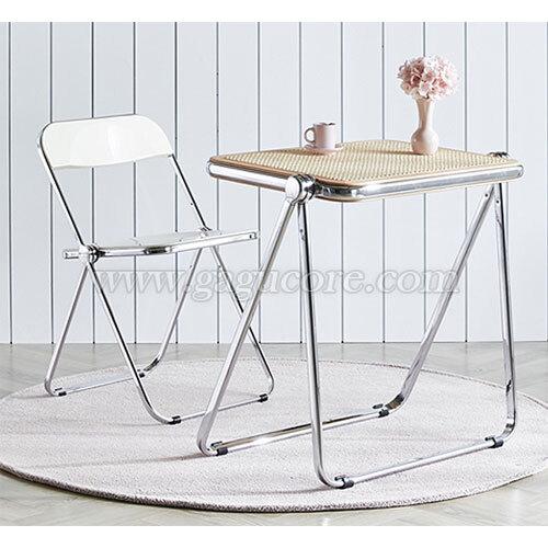 루이빌접이식라탄테이블(카페테이블, 업소용테이블, 인테리어테이블, 사각테이블, 레스토랑테이블, 접이식테이블)