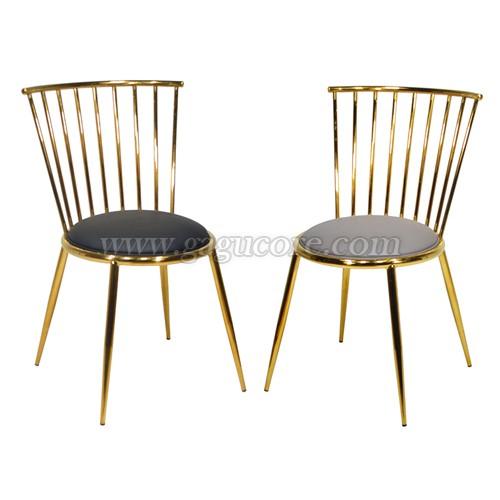 레어골드체어(업소용의자, 카페의자, 철재의자, 스틸체어, 인테리어의자, 레스토랑체어, 골드체어)
