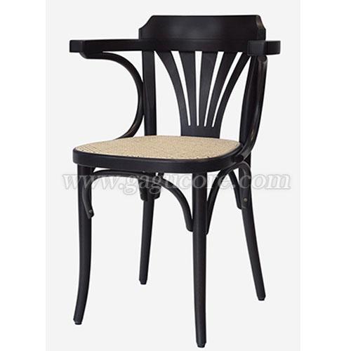 [TON정품]크라운체어(PU, 라탄시트)(업소용의자, 카페의자, 목재의자, 우드체어, 인테리어의자, 명품의자, 톤체어, 라탄체어)