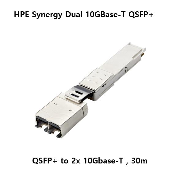 [HPE] 838327-B21 QSFP+ to 2x 10G-T Copper RJ45 컨버팅