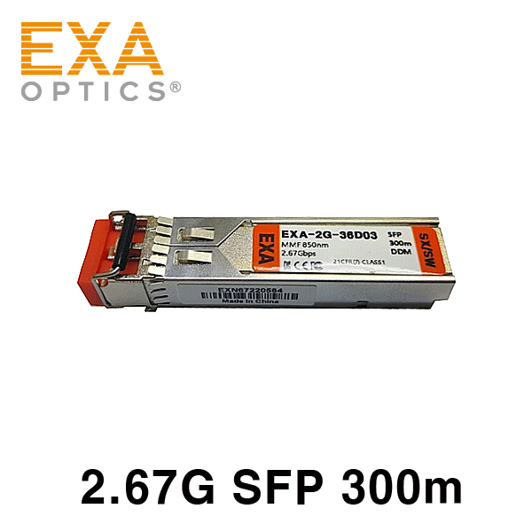 EXA AVAGO 2.67GBase-SW FC HFBR-5720ALP 550m compatible optical module