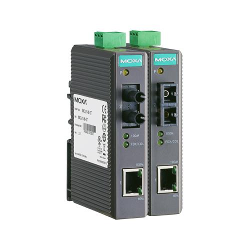 [MOXA] IMC-21-S-SC Entry-level Industrial 10/100BaseT(X) to 100BaseFX Media Converters