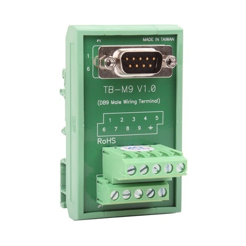 [MOXA] TB-M9 DB9(M) DIN-Rail Wiring Terminal