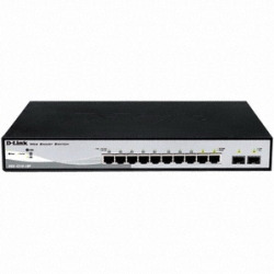 [DLINK] DGS-1210-10P 8 Port 10/100 / 1000Mpos PoE 2SFP 78W POE Switch