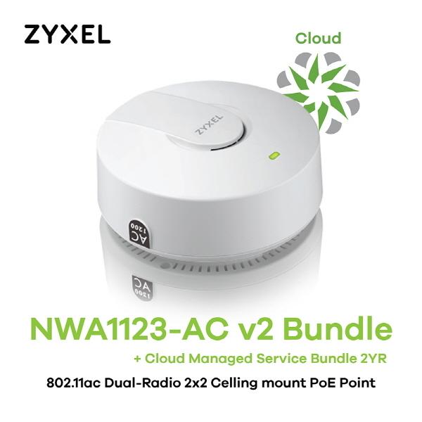 [ZyXEL] NWA1123-AC Bundle 클라우드 매니지드 서비스 2년번들