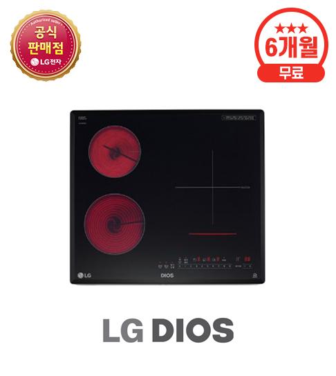 LG 하이브리드 전기레인지 하이라이트 2구 + 인덕션 1구
