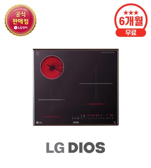 LG 하이브리드 전기레인지 하이라이트 1구 + 인덕션 2구