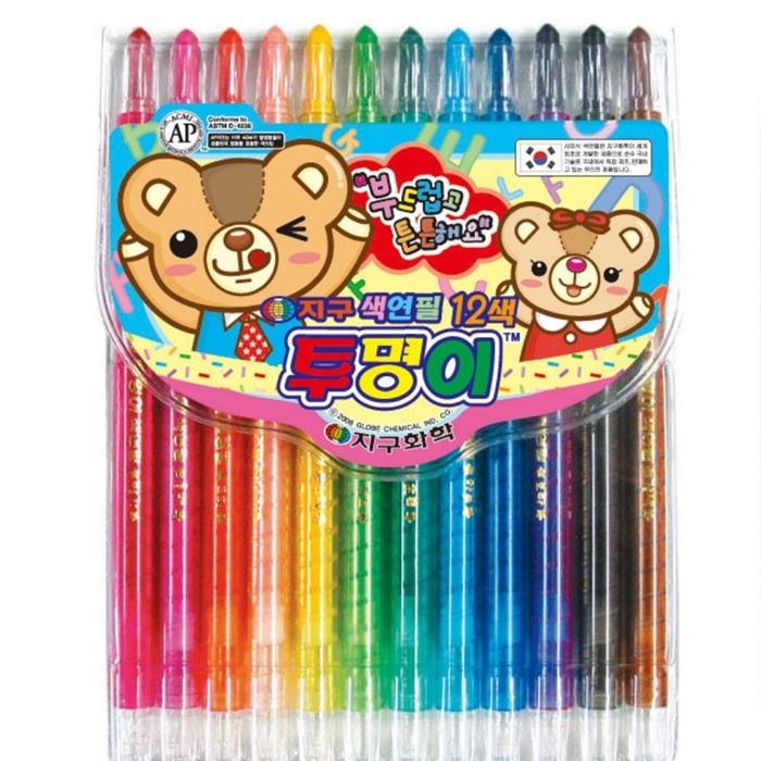 지구화학 투명이색연필 12색