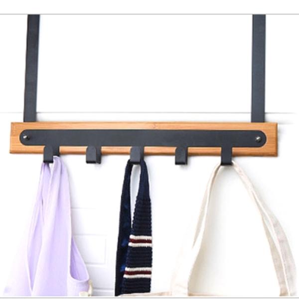 5구 다용도 도어옷걸이 대나무 도어훅 (4230) 검정색