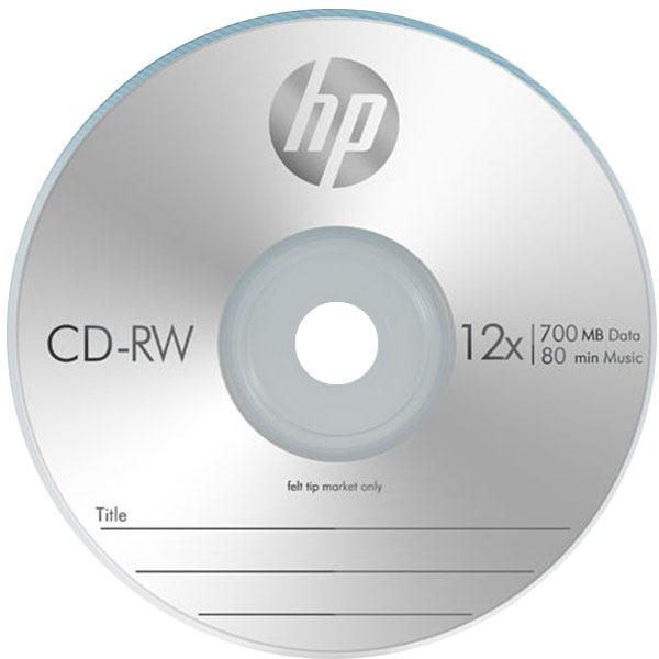 HP Media CD-RW 4-12x 700MB (1P 슬림 케이스) 10장