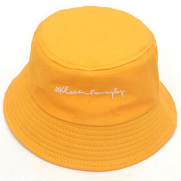자수 면 벙거지[S989-커시브]버킷햇 남여공용 모자