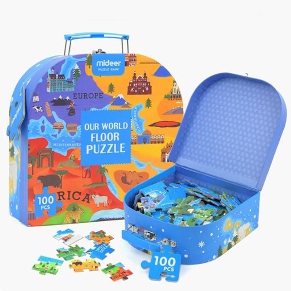 직소퍼즐 미디어 세계지도 퍼즐 놀이가방