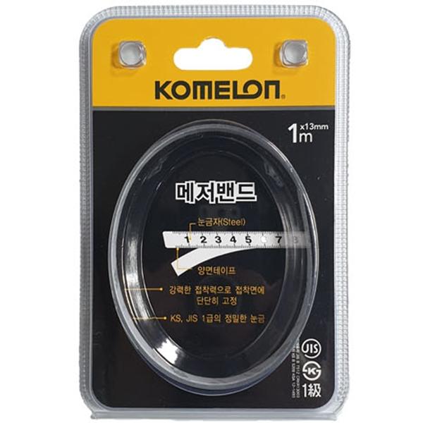 코메론 메저밴드 줄자1m(KMF10) 피트자 접착줄자 측정