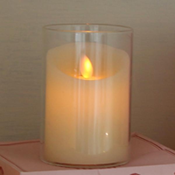리프팀 LED 캔들 촛불 전용 유리 용기 통