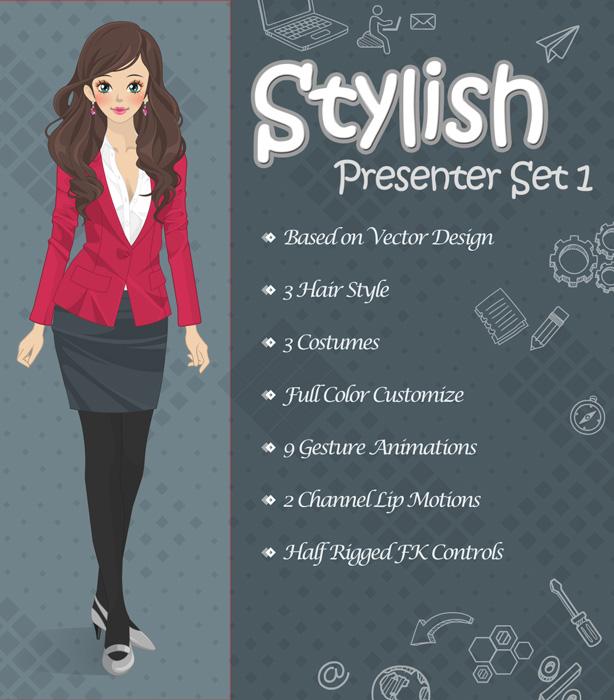 Stylish Presenter Set 1 - 1
