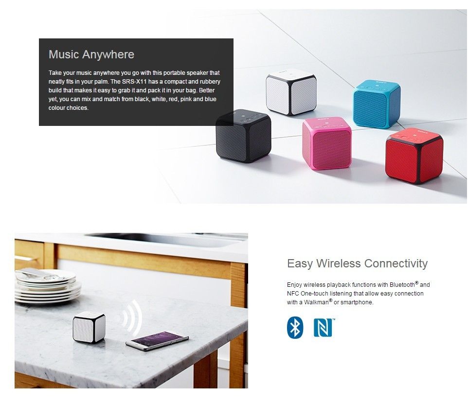 sony cube speaker how to connect