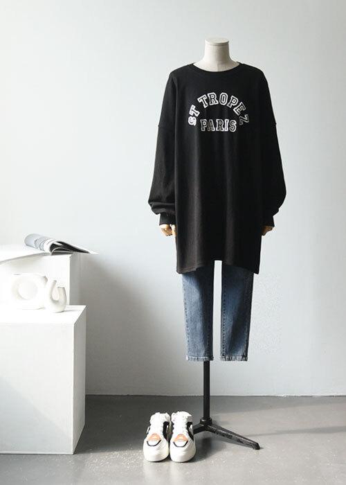ST 파리 오버핏 티셔츠