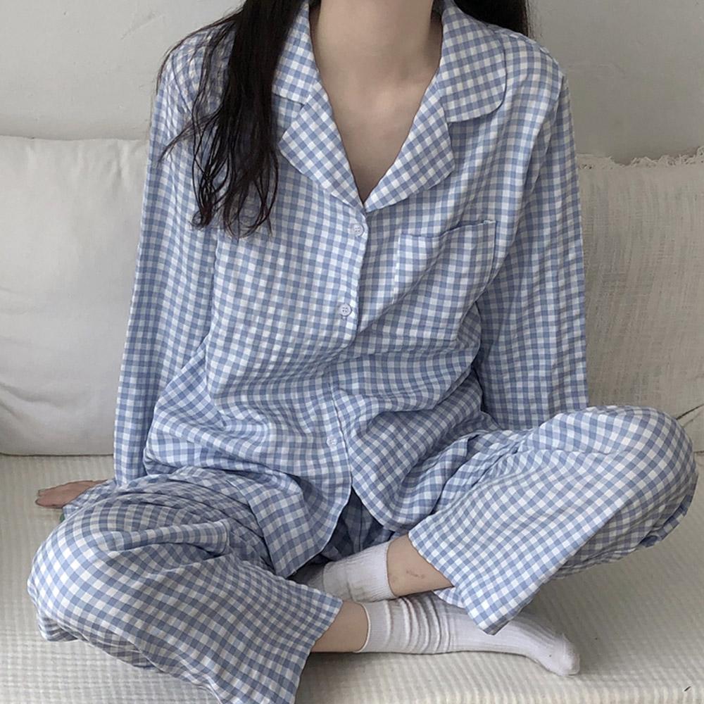 수면 체크 홈웨어 트윈룩 잠옷 SET