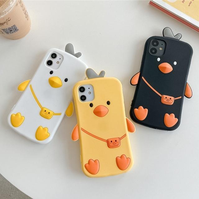 아이폰 삐약프렌즈 실리콘 케이스(3colors)