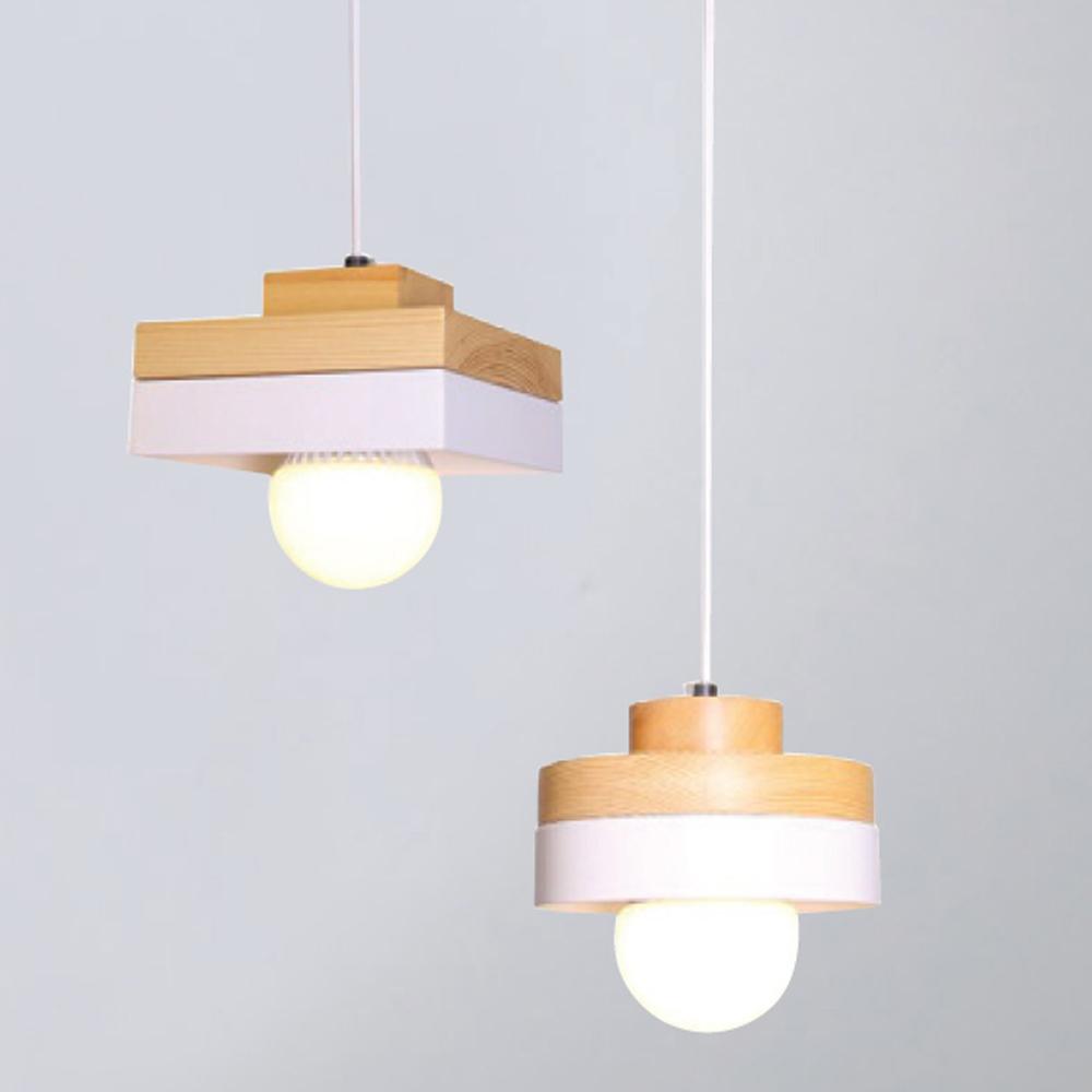 브라운 원형/사각 1등 펜던트등 11W(LED11wx1) 모던