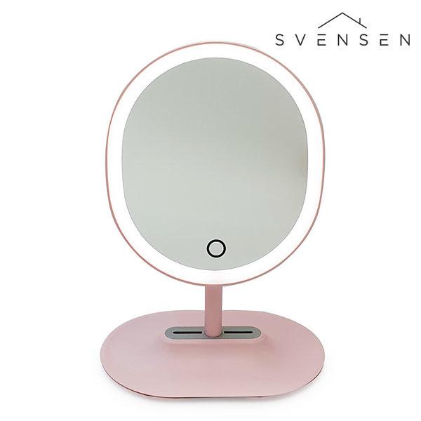 채원몰,[SVENSEN] 스벤슨 LED 마그네틱 탈착 조명 조절 거울(핑크)