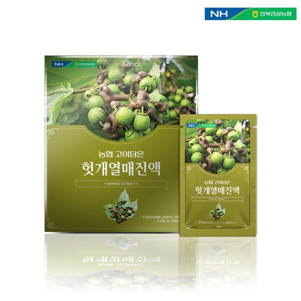 홍도매,전북인삼농협 [고이담은] 헛개열매진액 70ml x 30포