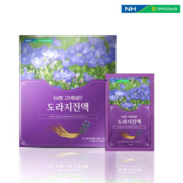 홍도매,전북인삼농협 [고이담은] 도라지진액 70ml x 30포