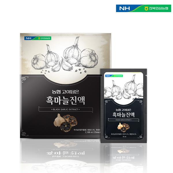 채원몰,전북인삼농협 [고이담은] 흑마늘진액 70ml x 30포