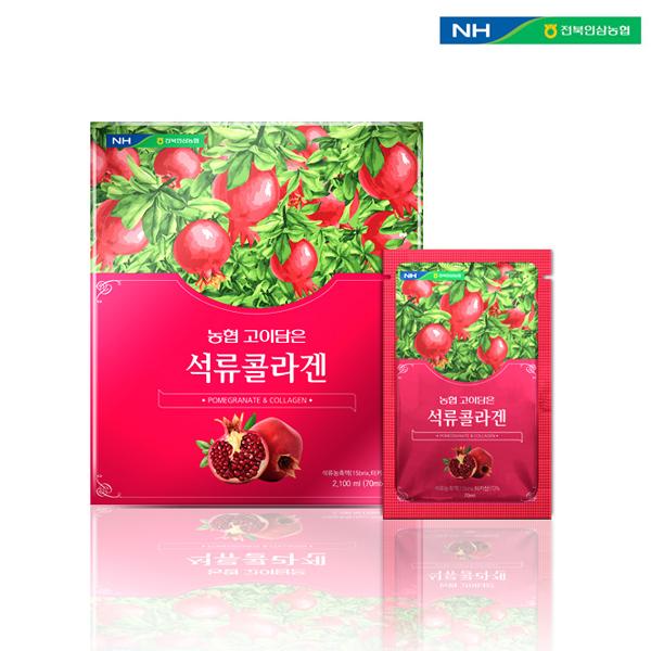 홍도매,전북인삼농협 [고이담은] 석류콜라겐 70ml x 30포