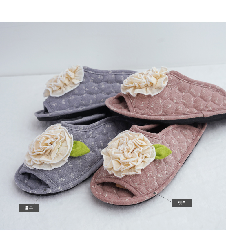 꽃송이 퀼트 실내화 - 데코에버, 11,900원, 슬리퍼/거실화, 덮개형