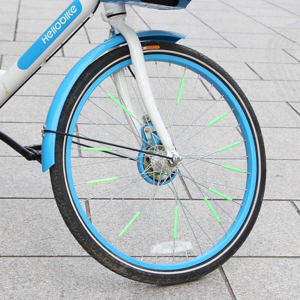 야광 스트로우 자전거 휠라이트 12P 레이저 LED 튜닝