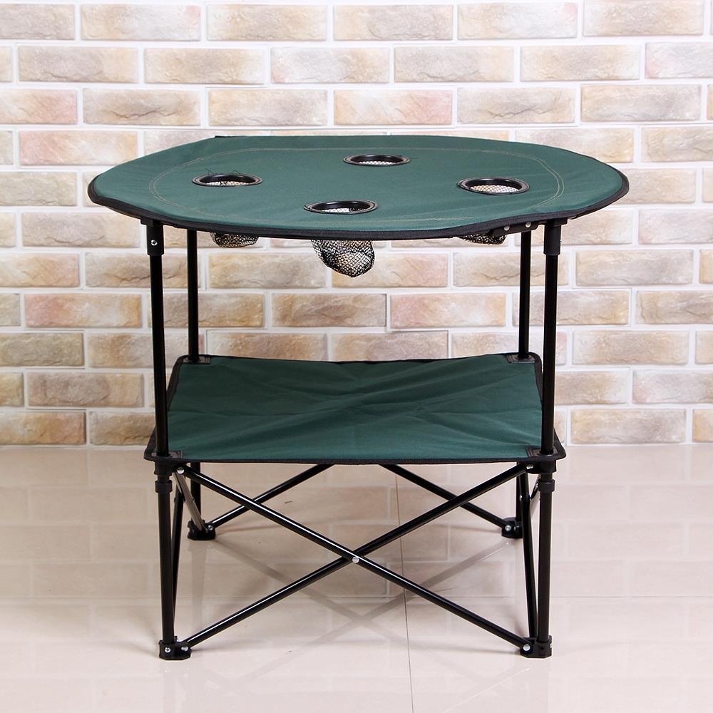 컵홀더 캠핑 테이블 식탁 야외용 휴대용 접이식 소풍
