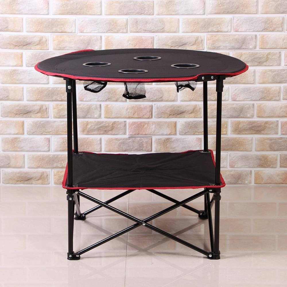 컵홀더 폴딩 캠핑테이블 식탁 야외용 휴대용 접이식
