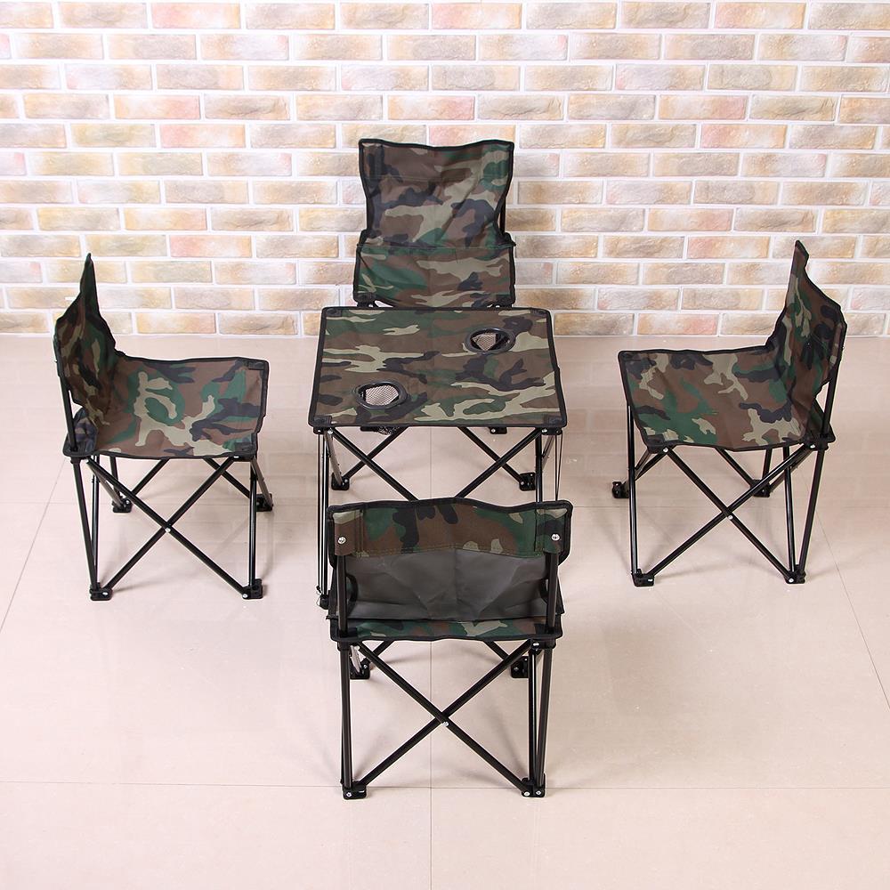 4인용 세트 캠핑테이블 식탁 야외용 휴대용 접이식
