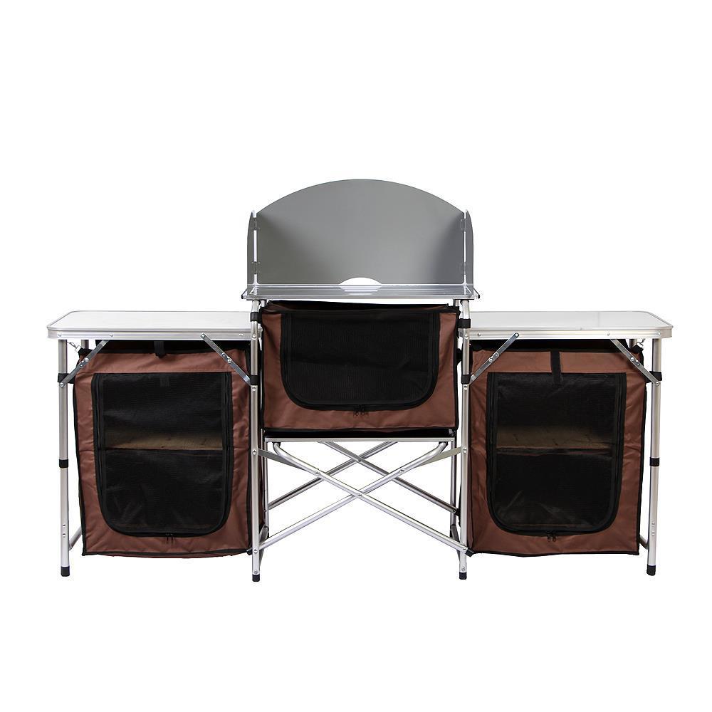 캠핑 폴딩 키친테이블 식탁 야외용 휴대용 접이식