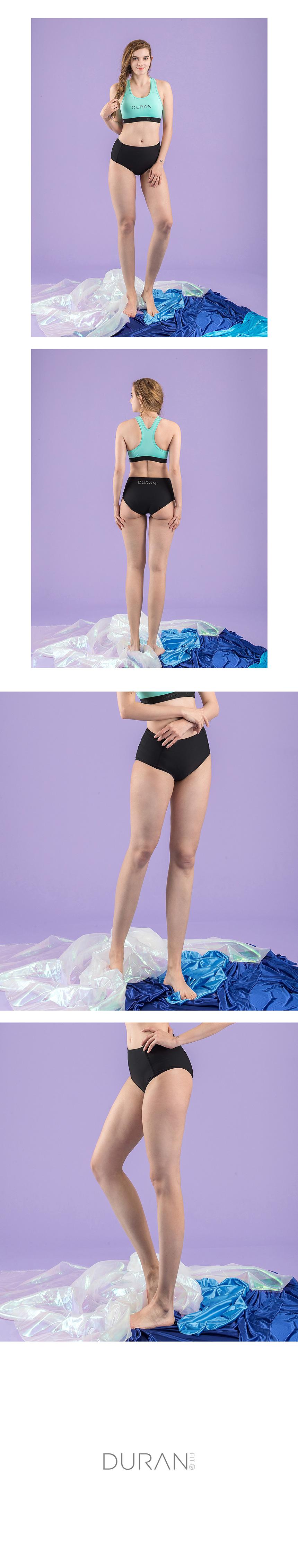 나리아 여성 수영복 하이비키니 팬티 DSW4004 블랙