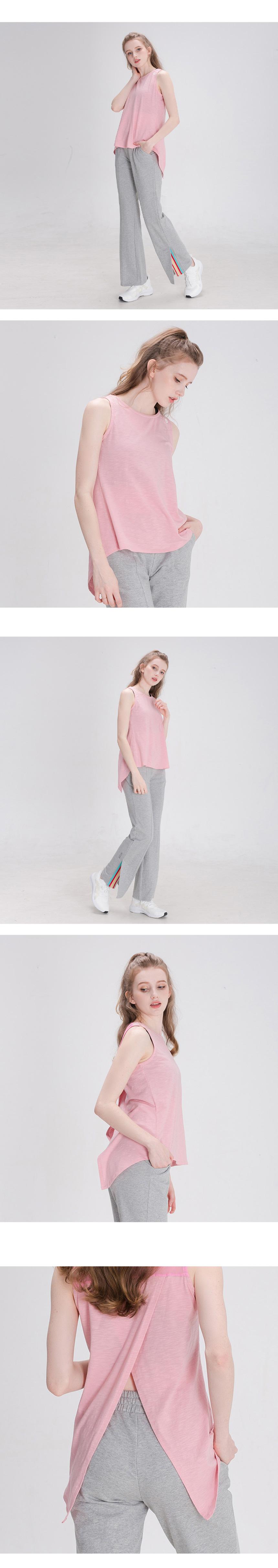 뒤란(DURAN) 모달 슬리브리스 민소매 DFW5025 핑크